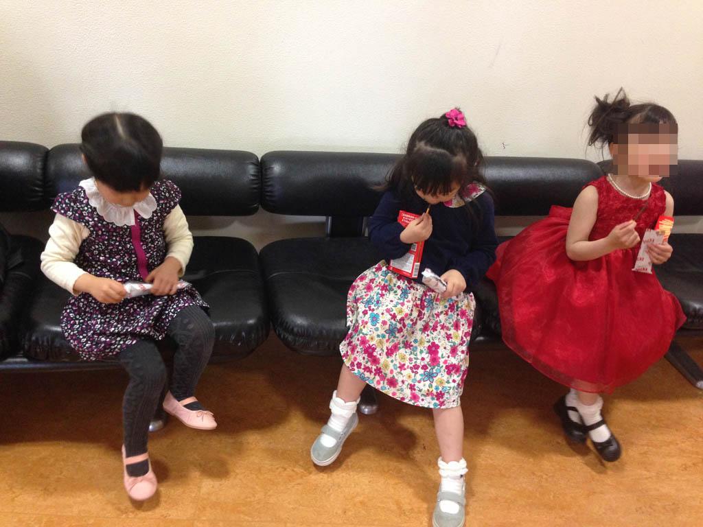 ヤマハ発表会終了後の娘達