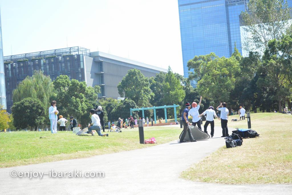 科学未来館前の広場