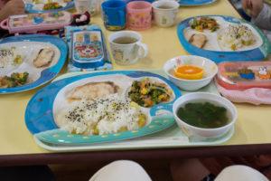 ガッツリの保育園の給食。