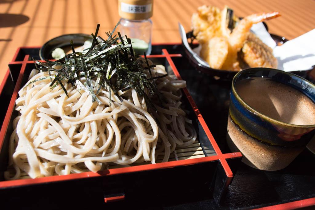 常陸太田「旬」の十割蕎麦 こちらは天ざるです