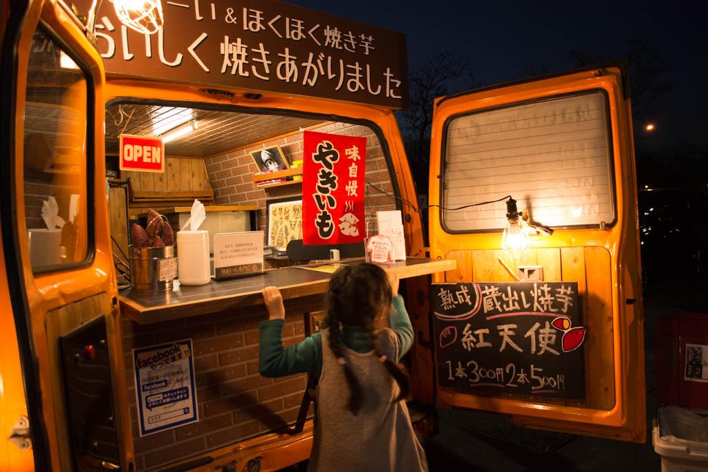 霞ヶ浦総合公園。イルミネーションの後は焼き芋食べたい!