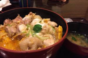五鐵 夢境庵の奥久慈軍鶏の親子丼