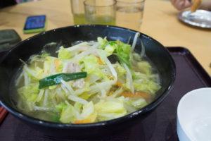 かわプラザ 地野菜タンメン(600円)