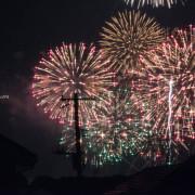 千波湖花火