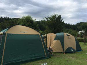 テント&タープ設営完了